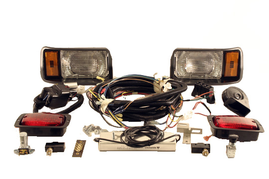 light kit deluxe for club car electric 1993-up (48-volt) ds cars  includes  voltage reducer